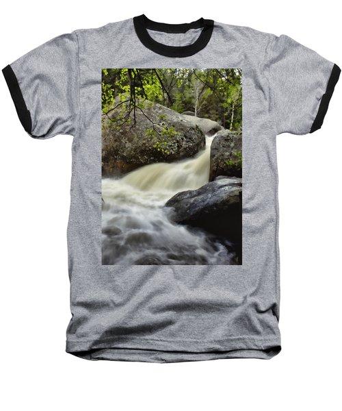 Baseball T-Shirt featuring the photograph Spring Runoff by Ellen Heaverlo
