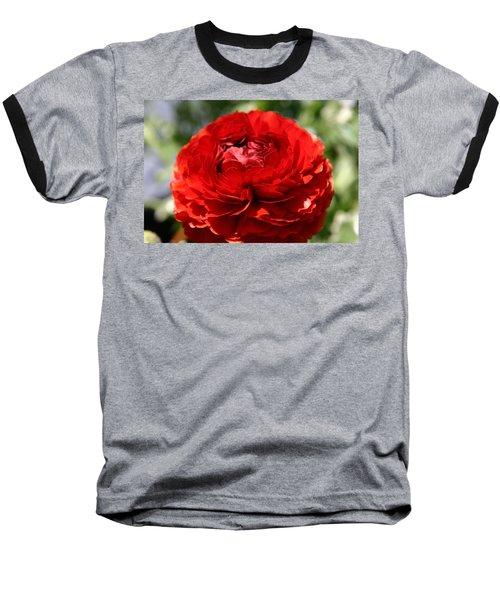 Spring Scarlet Double Begonia Baseball T-Shirt