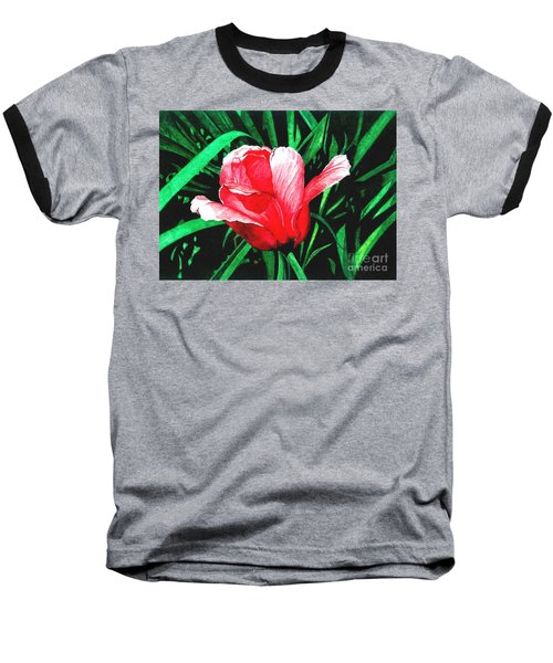 Baseball T-Shirt featuring the painting Spring Solo by Barbara Jewell