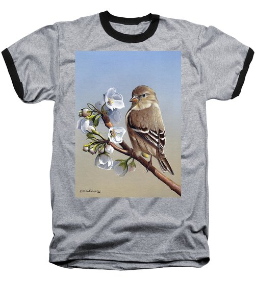 Baseball T-Shirt featuring the painting Spring Splendor by Mike Brown