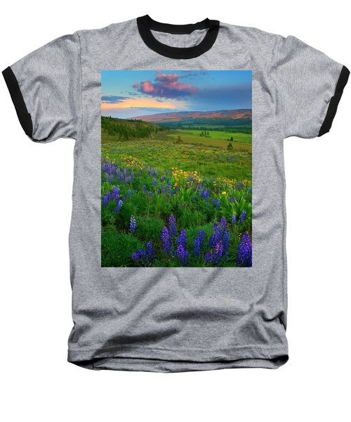 Spring Storm Passing Baseball T-Shirt by Mike  Dawson