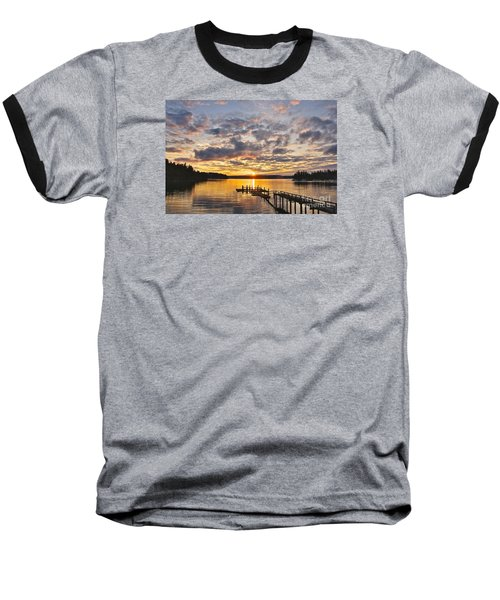 Spring Sunrise Baseball T-Shirt by Sean Griffin