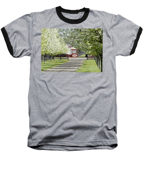 Baseball T-Shirt featuring the photograph Spring Time At The Farm by Sami Martin