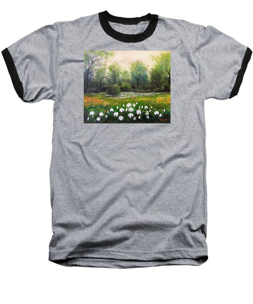 Baseball T-Shirt featuring the painting Spring by Vesna Martinjak