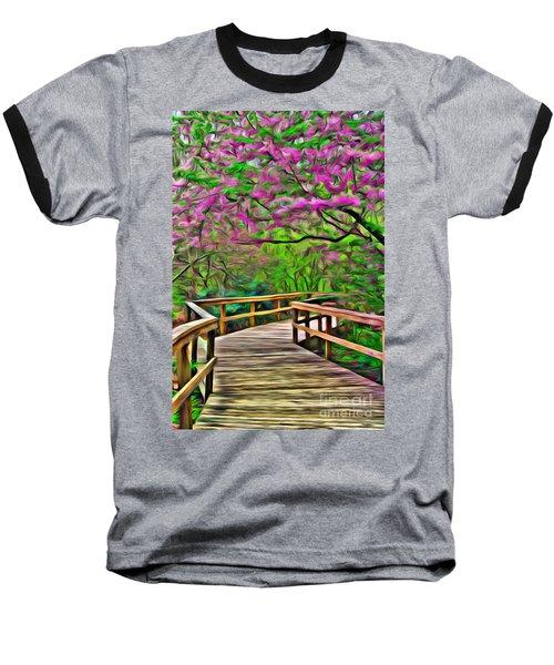 Spring Walk - Paint Rendering Baseball T-Shirt