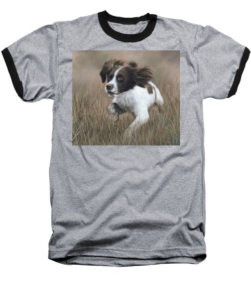 Springer Spaniel Painting Baseball T-Shirt