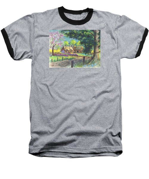 Springtime Cottage Baseball T-Shirt