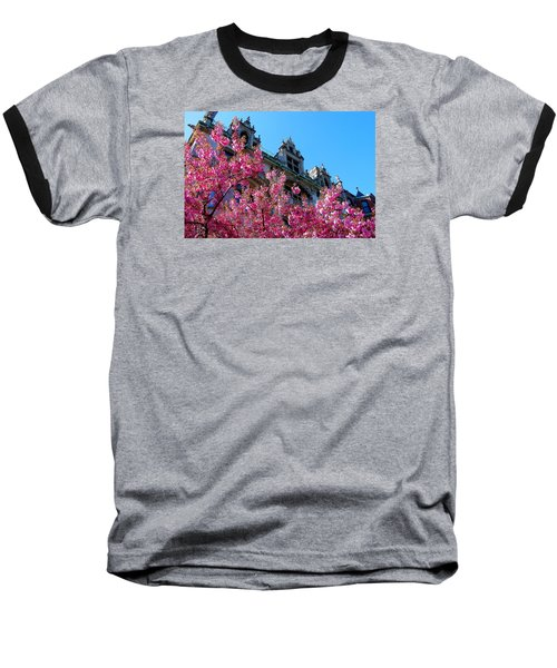 Springtime On Commonwealth Avenue Baseball T-Shirt