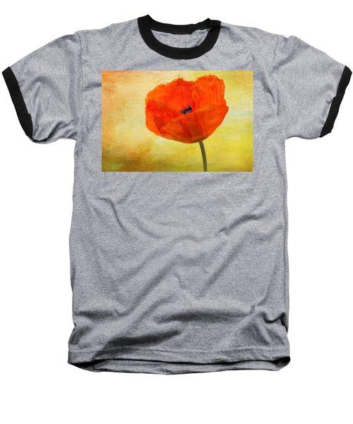 Springtime Poppy Beauty Baseball T-Shirt