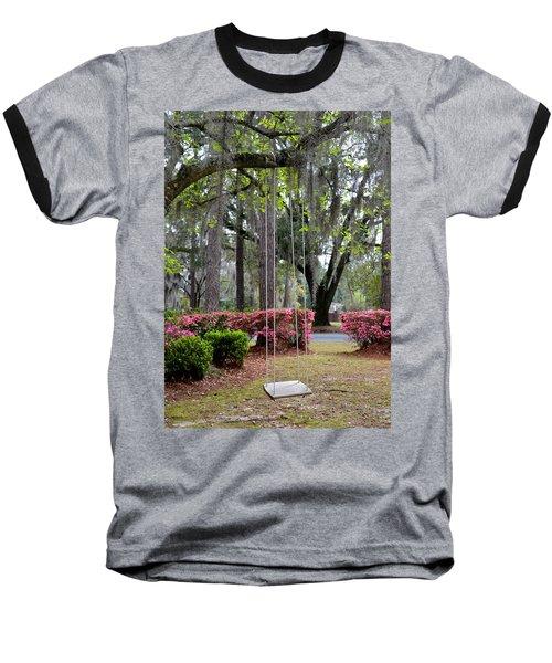 Springtime Swing Time Baseball T-Shirt by Carla Parris