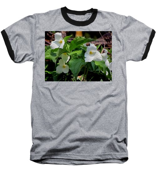 Springtime Trillium Baseball T-Shirt