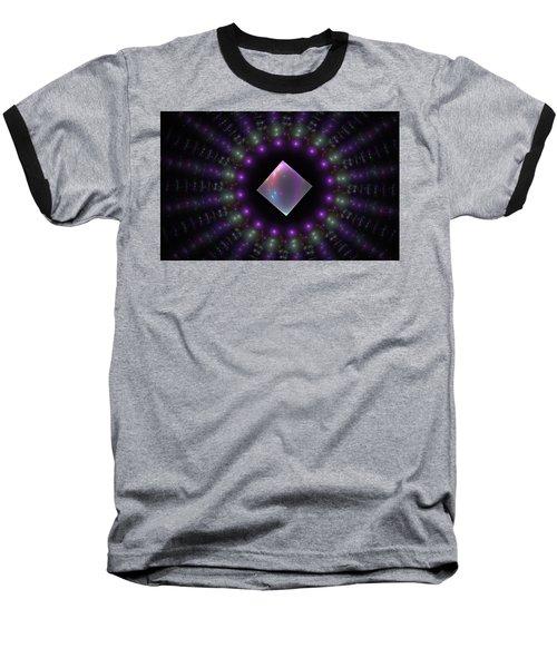 Square Peg Round Hole Baseball T-Shirt by GJ Blackman