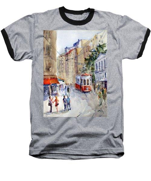 Square Tunel - Beyoglu Istanbul Baseball T-Shirt