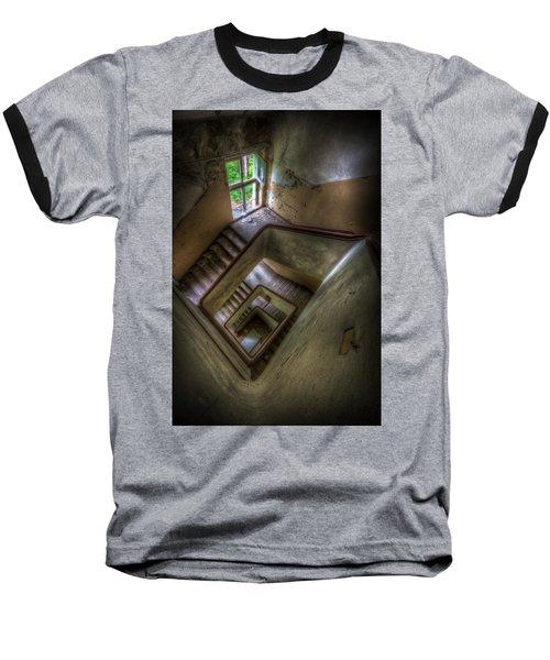 Squares Going Down Baseball T-Shirt