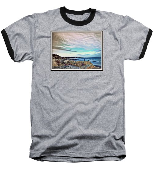 Squibby Cliffs And Mackerel Sky Baseball T-Shirt by Kathy Barney