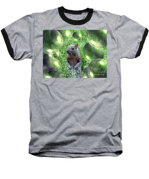 Squirrel In Bubbles Baseball T-Shirt