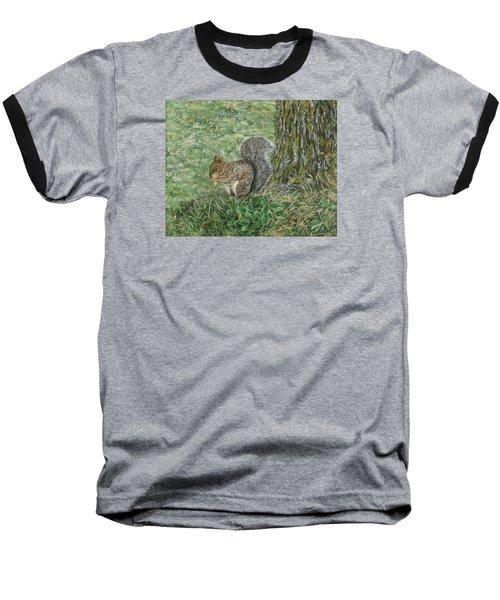 Squirrel Baseball T-Shirt by Lucinda V VanVleck
