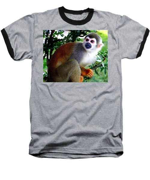 Squirrel Monkey Baseball T-Shirt