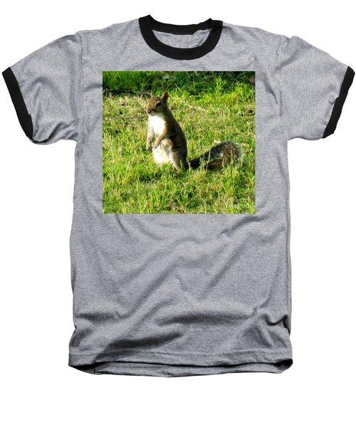 Baseball T-Shirt featuring the photograph Squirrel by Oksana Semenchenko