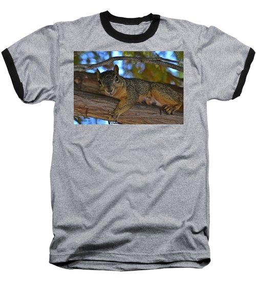 Squirrel On Watch Baseball T-Shirt