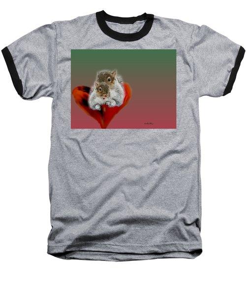 Squirrels Valentine Baseball T-Shirt