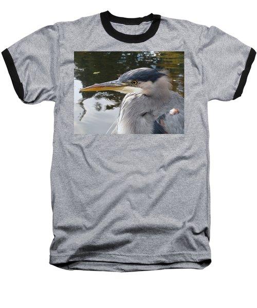 Sr Heron  Baseball T-Shirt by Cheryl Hoyle