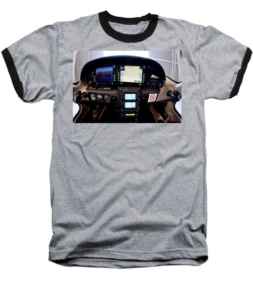 Sr22 Cockpit Baseball T-Shirt by Paul Job