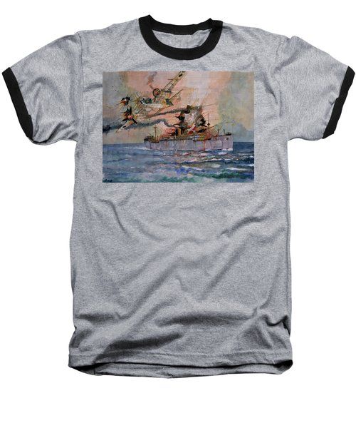Ss Waimarama Baseball T-Shirt by Ray Agius