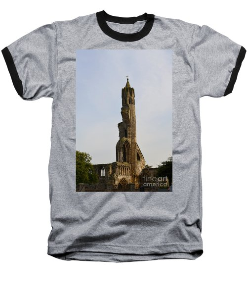 St Andrew's Cathedral Ruins Baseball T-Shirt by DejaVu Designs