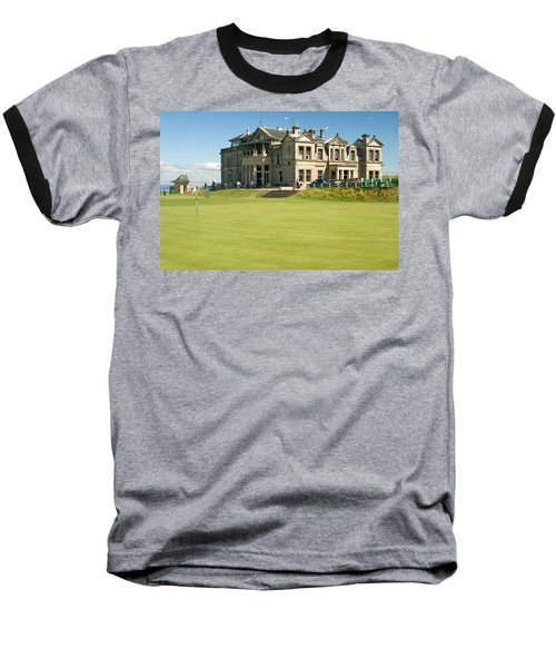 St Andrews Final Green And Clubhouse  Baseball T-Shirt by Jeremy Voisey