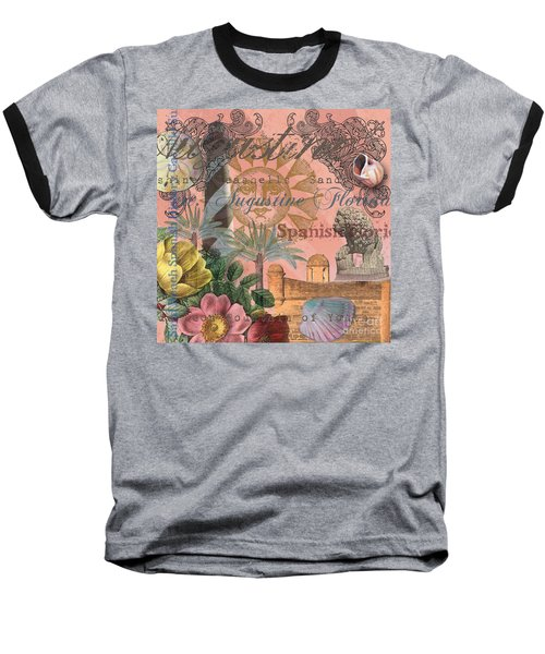 St. Augustine Florida Vintage Collage Baseball T-Shirt