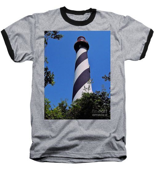 St Augustine Lighthouse Baseball T-Shirt