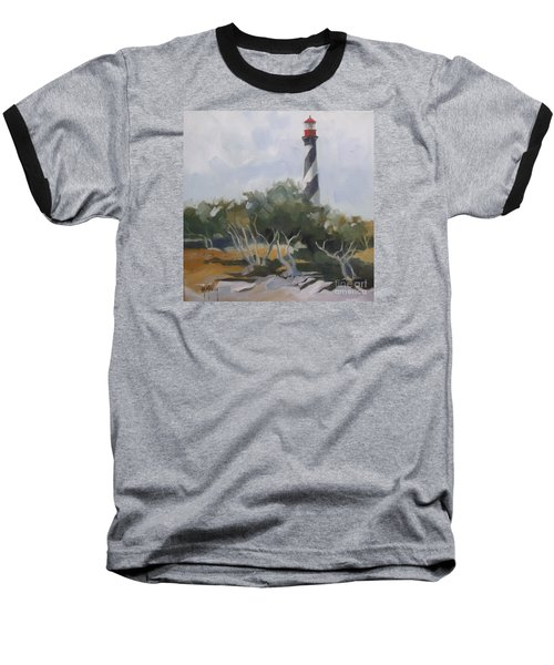 St Augustine Lighthouse First Light Baseball T-Shirt