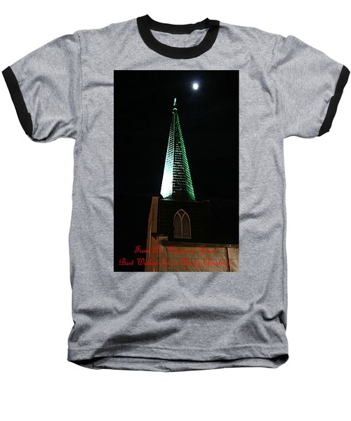 St. Augustine Moon Christmas Card Baseball T-Shirt