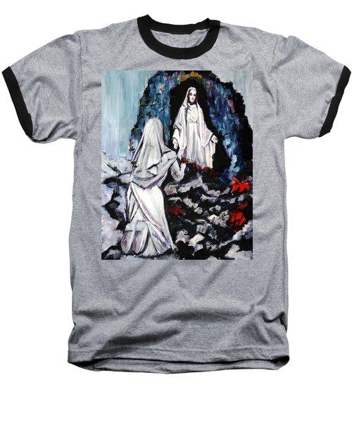 St. Bernadette At The Grotto Baseball T-Shirt