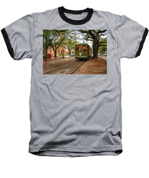 St. Charles Ave. Streetcar In New Orleans Baseball T-Shirt