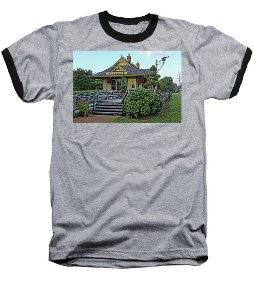 St Charles Station On The Katty Trail Look West Dsc00849 Baseball T-Shirt by Greg Kluempers