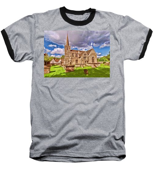 St Cyriac Church Lacock Baseball T-Shirt