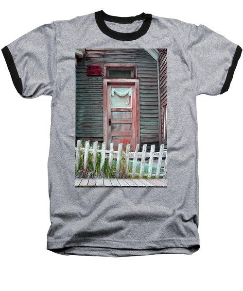 Baseball T-Shirt featuring the photograph St. Elmo Door Salmon by Lanita Williams