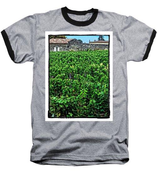 Baseball T-Shirt featuring the photograph St. Emilion Winery by Joan  Minchak