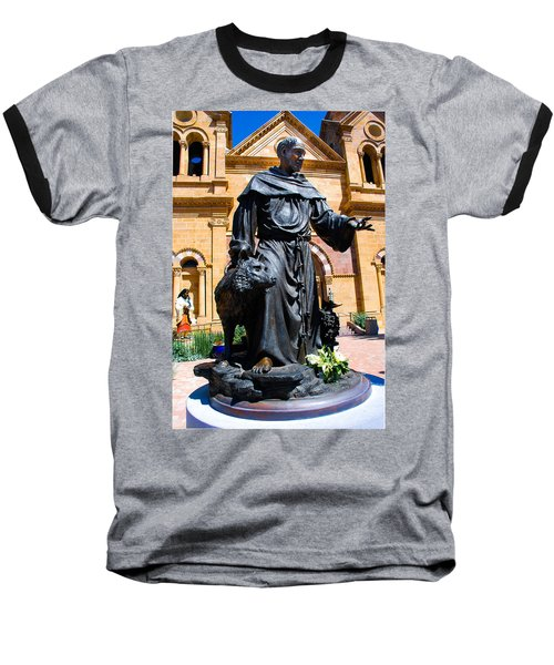 St Francis Of Assisi - Santa Fe Baseball T-Shirt