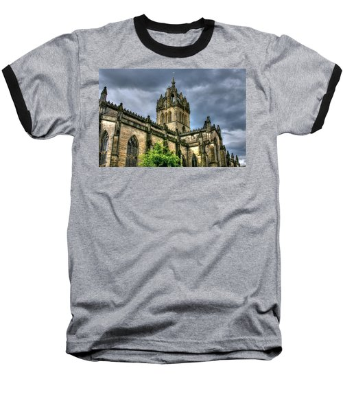 St Giles And Tree Baseball T-Shirt