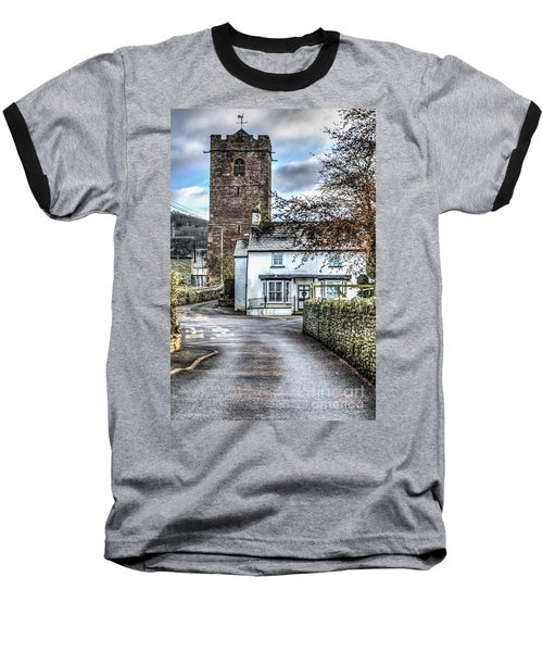 St Gwendolines Church Talgarth Baseball T-Shirt by Steve Purnell