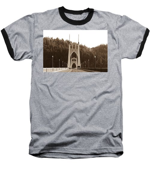 St. John's Bridge Baseball T-Shirt by Patricia Babbitt