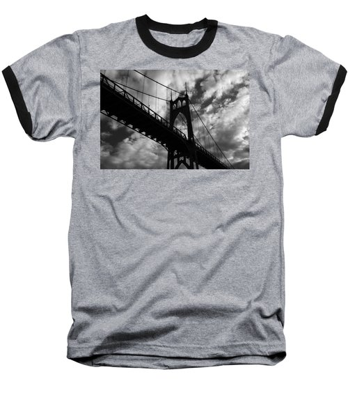St Johns Bridge Baseball T-Shirt by Wes and Dotty Weber
