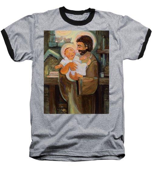 St. Joseph And Baby Jesus Baseball T-Shirt