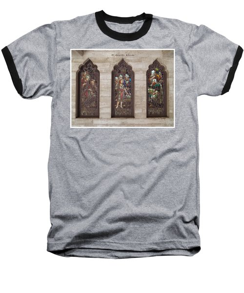 Baseball T-Shirt featuring the photograph St Josephs Arcade - The Mission Inn by Glenn McCarthy Art and Photography