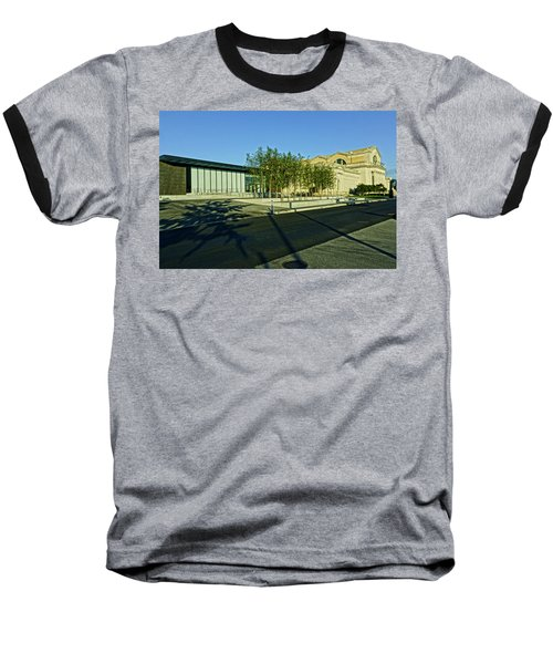 St Louis Art Museum New And Old Baseball T-Shirt by Greg Kluempers