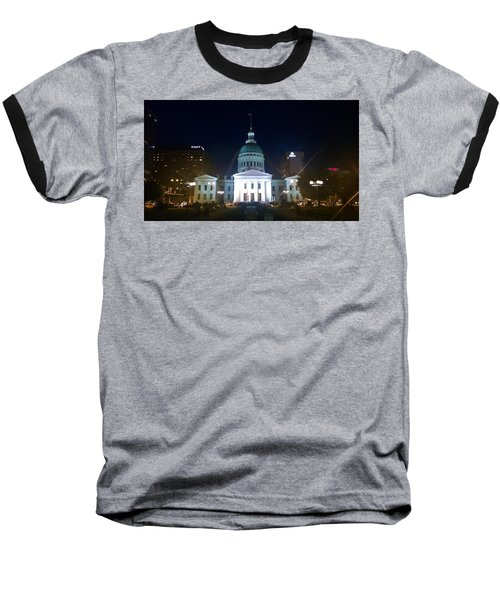 Baseball T-Shirt featuring the photograph St. Louis At Night by Chris Tarpening