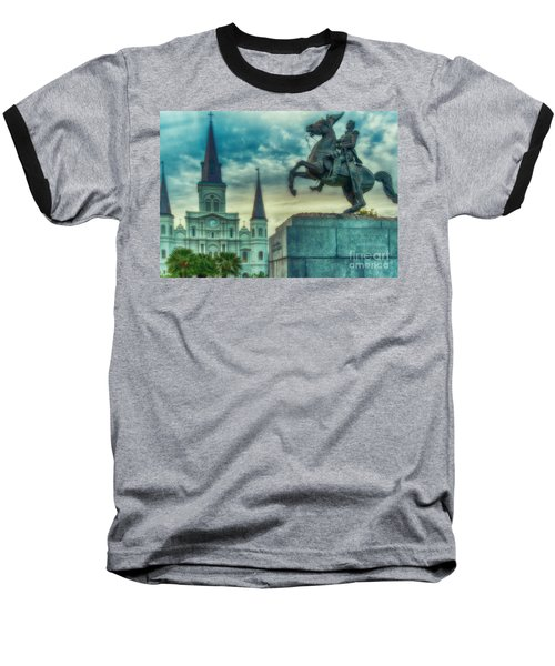 St. Louis Cathedral And Andrew Jackson- Artistic Baseball T-Shirt